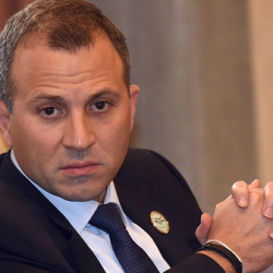Lebanese Foreign Minister Gebran Bassil attends an extraordinary meeting of foreign ministers of the Arab League, on November 9, 2015 in the Saudi capital Riyadh.  AFP PHOTO / FAYEZ NURELDINE / AFP PHOTO / FAYEZ NURELDINE